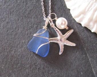 Blue beach glass   Etsy