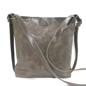 Soft Leather Purse Brown Leather Minimalist Handbag Small Leather Crossbody Bag Personalized Shoulder Bag Purse Made in USA