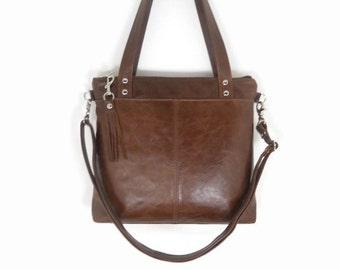 Leather Crossbody Bag, Leather Tote Bag, Women's Handmade Leather Handbags Made in USA, Messenger Bag, Leather Shoulder Bag, Minimalist Bag