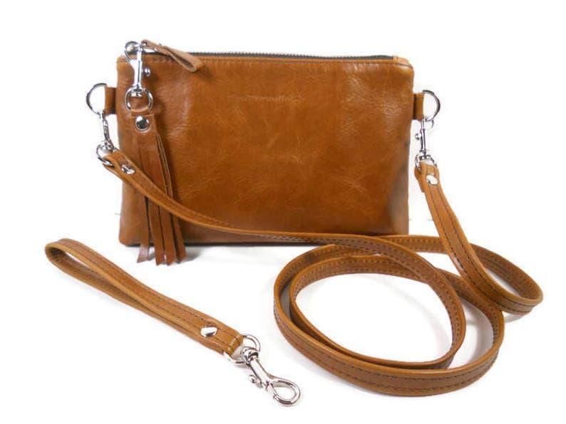 94e22eaf95d3 Small Leather Crossbody Bag Cognac Leather Crossbody Wallet