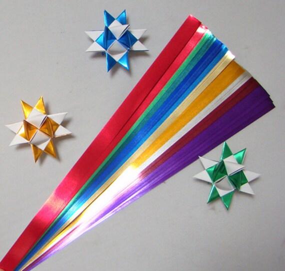 Mirror Foil Mix Paper Strips For Making Moravian German Etsy