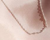 Lulu Choker   simple choker   sterling silver Singapore choker   thin elegant silver chain necklace