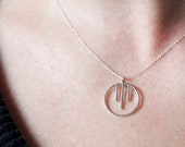Miki Necklace | sterling silver circle necklace | thin elegant silver necklace | minimal everyday necklace