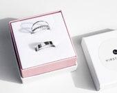 Kelsi Ring Set | stacking set | simple dot stacking ring | sterling silver balled ring | thin elegant silver band | 19g dainty ring