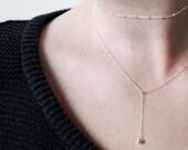 Vara Choker | simple layered choker | sterling silver ball choker | thin elegant silver ball chain necklace