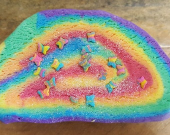 Unicorn Rainbow Bubble bar Scented with Twilight woods B & B dup 4 oz