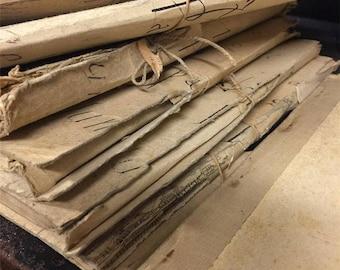 French Receipt Book - Ephemera - Scrap booking - Antique - Decoupage - French - Receipt
