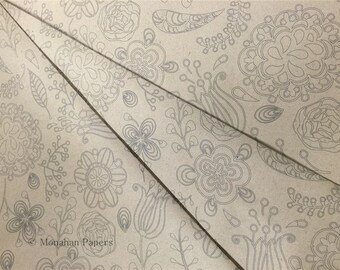 Paisley Floral Wrapping Paper SPS1051 - Kraft Wrap - Wrapping Paper - Recycle - Wrap - Scrapbooking