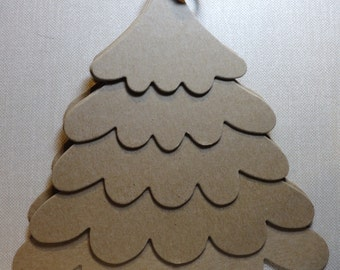 Bare Chipboard Tree Album 8.5 inches high x 8 inches wide