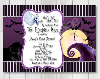 Nightmare before christmas baby shower invitations etsy jack skellington baby shower invitation nightmare before christmas baby shower halloween invite jack skeleton halloween wedding sally filmwisefo