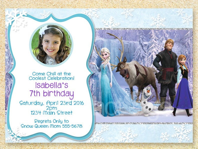 Frozen Invitation Birthday Disney