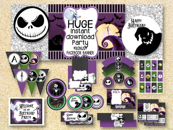 Nightmare Before Christmas Candy Bar Table Sign Printable Etsy