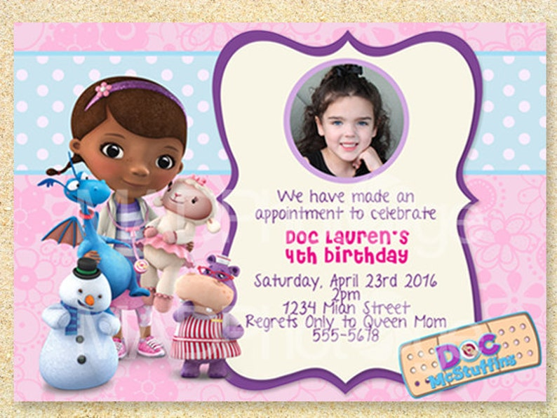 Doc McStuffins Birthday Invitation Printable Mcstuffins