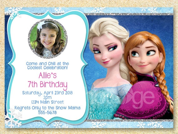 picture about Printable Frozen Birthday Invitations called Frozen Printable, Frozen Birthday Invitation, Anna Elsa, Frozen Video clip, Wintertime birthday, Xmas Photograph, Delivery Announcement, Kid Shower.