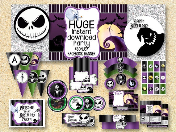 Nightmare Before Christmas Mini Candy Bar Wrappers Instant Download