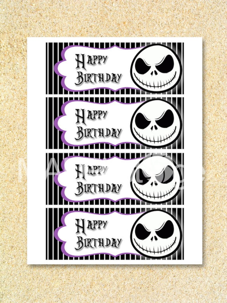 Nightmare Before Christmas Food Tent Cards nightmare before christmas INSTANT DOWNLOAD Jack Skellington Nightmare Before Christmas Party