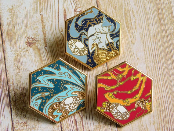 The Silmarils set of three hard enamel pins | Etsy