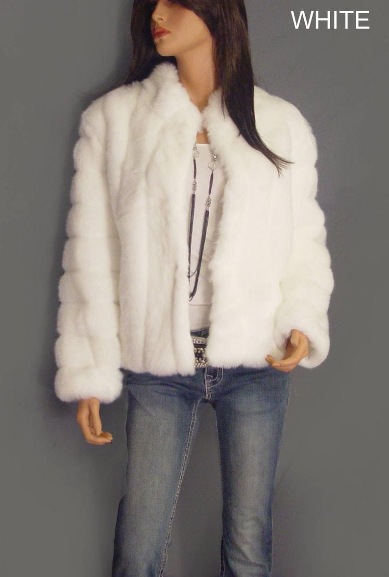 e9b6a06b79210 Long faux fur coat bolero shrug evening cover up long sleeve