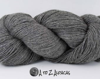Worsted Weight - Gray - Alpaca Yarn - Made in Canada