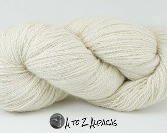 Royal Baby Natural Alpaca Yarn Sock Weight White