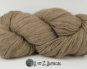 Worsted Weight - Khaki - Alpaca Yarn - Made in Canada