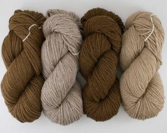 Bulky Weight Natural Alpaca Yarn! From our family alpaca farm!