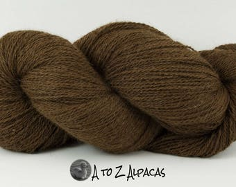 Royal Baby Natural Alpaca Yarn Sock Weight Chocolate