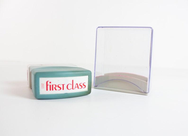 Vintage First Class Xstamper Self Inking Stamp 1332