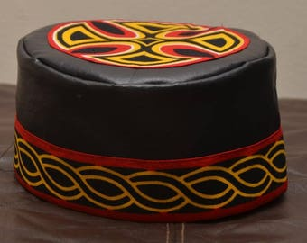 Bold Wakanda African Hat Kufi Perfect for Black Panther Movie Events, Graduation Hat Culture Hat Head wear