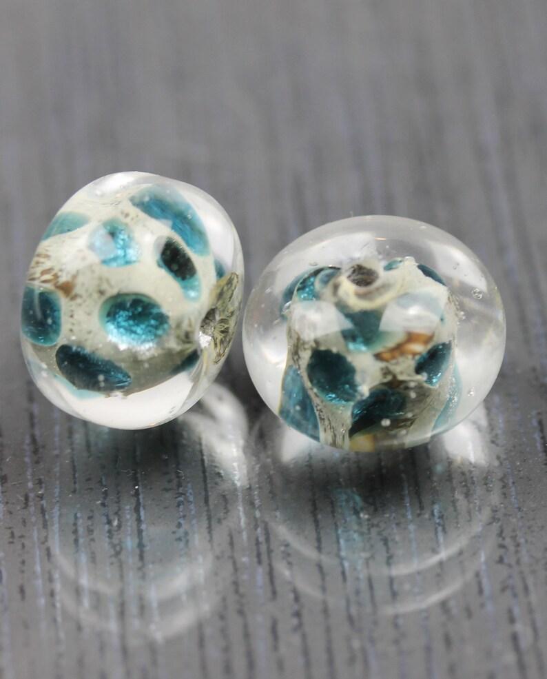 Dark Blue focal Beads RTS 2 large indigo blue glass beads Lampwork beads Handmade by Anne Londez sra Large earring pair