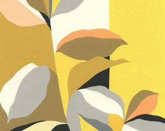 Colour Garden (Yellow) - plant print, leaves print, eloise renouf print.