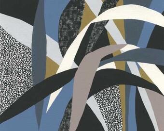 Colour Garden (Blue) -plant print, leaves print, eloise renouf print