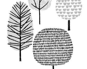 Four Trees, giclee print