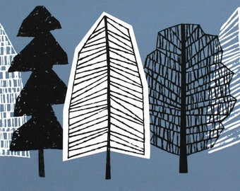 Blue Trees, giclee print