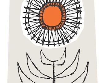 Mid Mod Stem - midcentury print, floral print