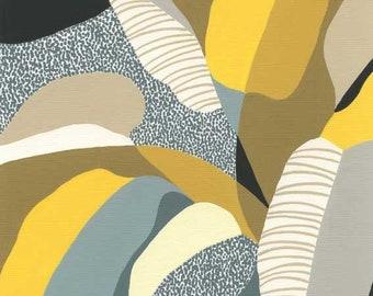 Colour Garden (Olive) - plant print, leaves print, eloise renouf print.