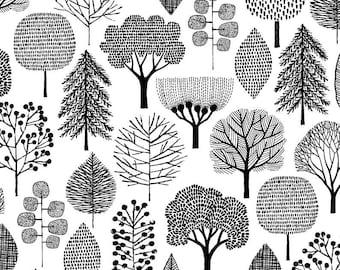 Monochrome Trees - tree print, minimal print, monochrome print
