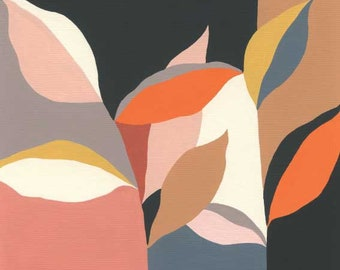 Colour Garden (Coral) - plant print, leaves print, eloise renouf print