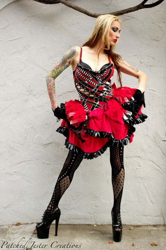 Harley Quinn Dress Cosplay Corset Dress Made To Order Etsy
