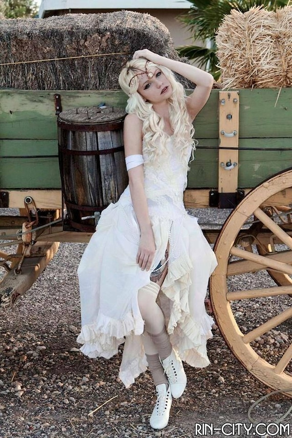 Steampunk Wedding Dresses | Vintage, Victorian, Black Whimsical Wedding Dress - Artax Dress - Steampunk Wedding Dress - Fairy Dress - Made to Order $273.00 AT vintagedancer.com