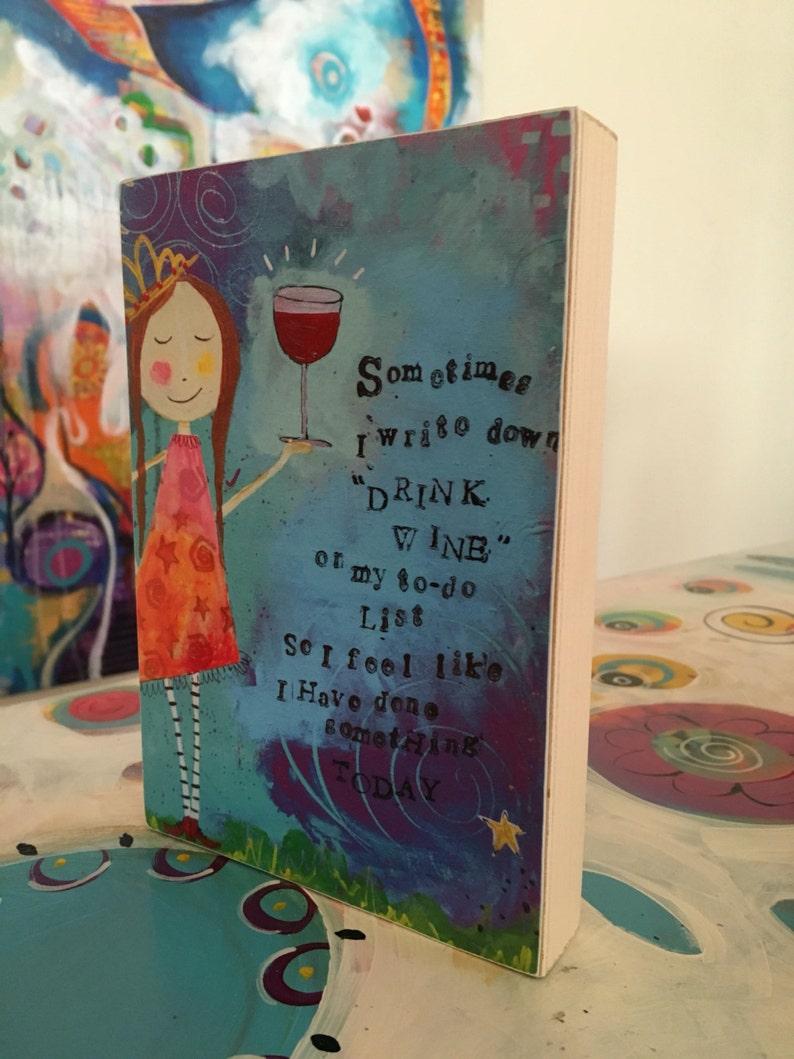 funny wine girl art makes great gift for friend Art Block