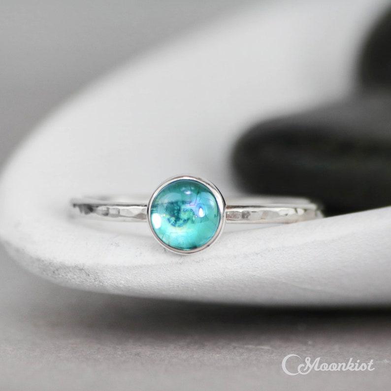 92259f9cf Blue Topaz Promise Ring Sterling Silver Blue Gemstone Ring | Etsy