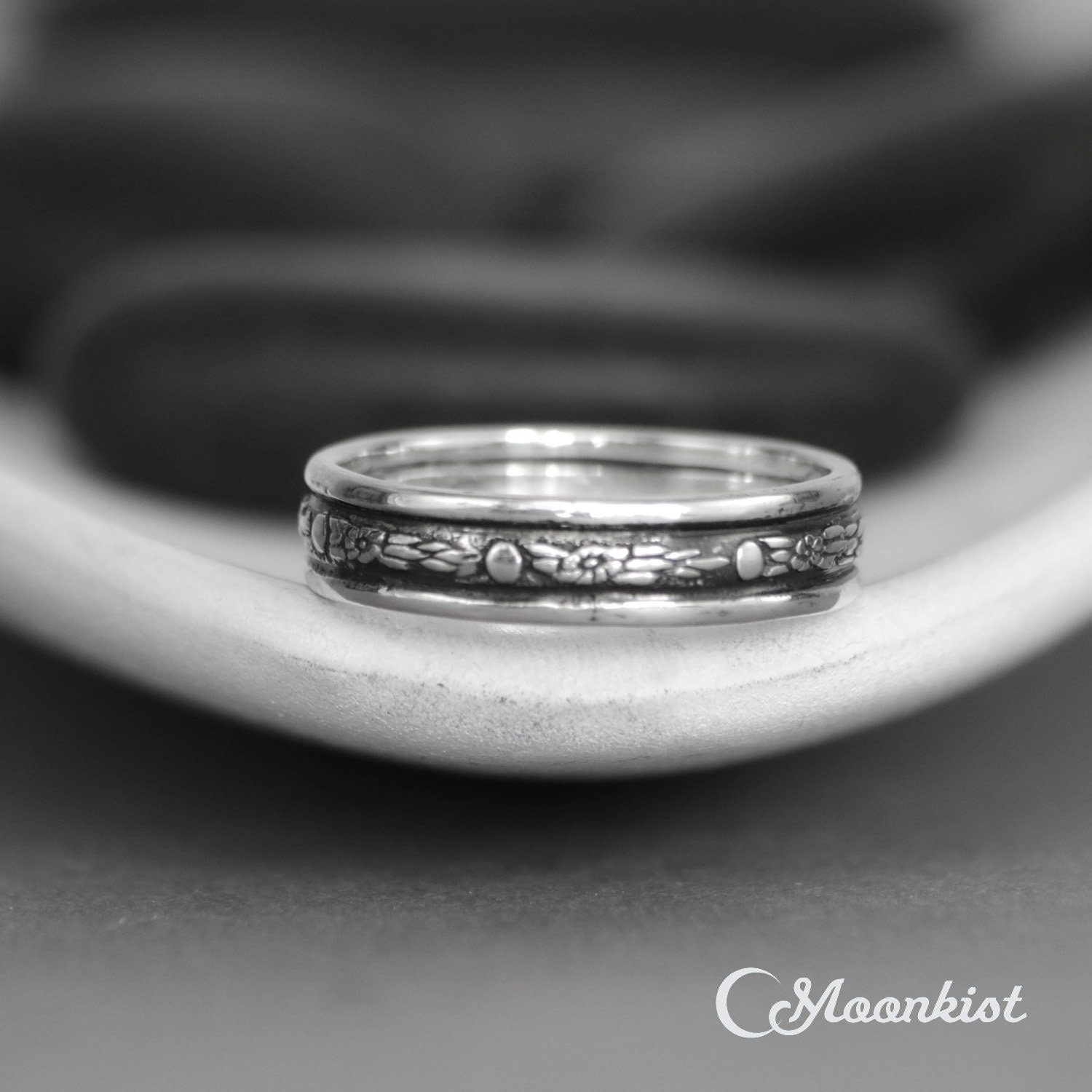 Celestial Bands: Celestial Wedding Band Sterling Silver Mens Wedding Band