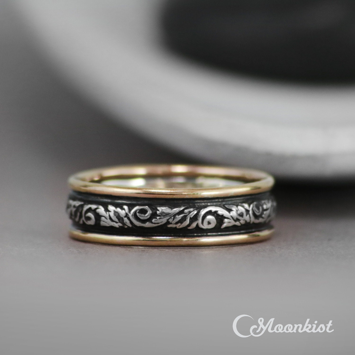 50: Gold And Silver Embossed Wedding Bands At Reisefeber.org
