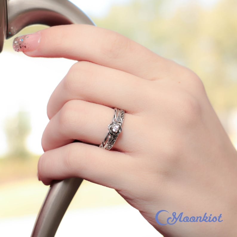 Details about  /Multi Heart Design Stackable 925 Sterling Silver Yellow Gold Finish Band Ring
