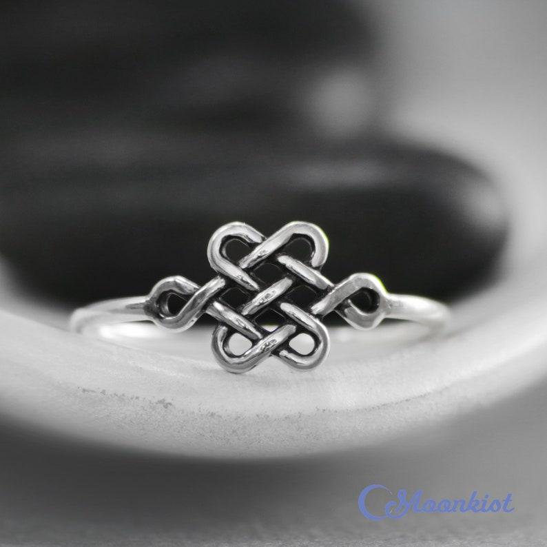 USA vendeur Croix Celtique Bague ARGENT sterling 925 BEST DEAL Simple Bijoux Taille 5