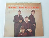 Vintage Vinyl Introducing The Beatles Vinyl Record LP VJLP 1062 Stereophonic VEE Jay Records 1964 Beatles Records