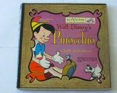Vintage Vinyl Walt Disney 39 s Pinocchio Little Nipper Series WY-385 7 quot 45rpm Record RCA Victor 1949 Records Sale