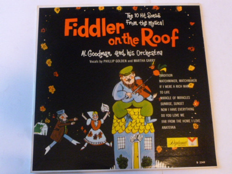 Vinyl Records Fiddler On The Roof Al Goodman and his Orchestra Vinyl Record  LP D2349 Diplomat Records Vinyl Records Sale