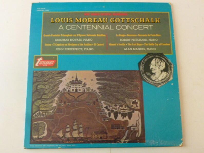 Vintage Vinyl Gottschalk A Centennial Concert Mandel Kirpatrick Pritchard Novaes Vinyl Record Lp Tv S34426 Turnabout Vox Records 1969